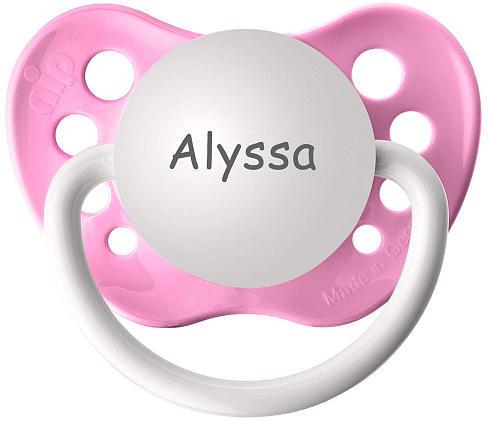 ULUBULU BPA Free Alyssa Pacifier with Protection Cap - Pink
