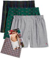 Polo Ralph Lauren Men's 4 Pack Woven Boxers
