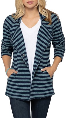 Nic+Zoe In Good Order Stripe Cotton Jacket