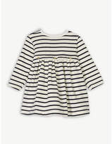 Petit Bateau Stripe print cotton-blend dress 1-12 months