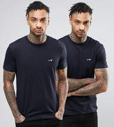 Armani Jeans 2 Pack T-Shirt Regular Fit Navy/Navy