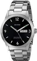 Jack Spade Men's WURU0084 Glenwood Analog Display Swiss Quartz Silver Watch