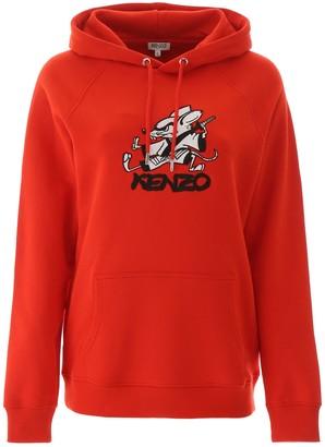 Kenzo Graphic Print Hooded Sweatshirt