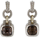Judith Ripka Smoky Quartz & Diamond Drop Earrings