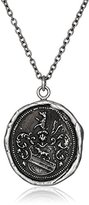 Pyrrha Talisman Men's Sterling Silver Heart Of The Wolf Pendant Necklace, 22""