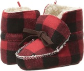 Mud Pie Buffalo Check Booties (Infant)