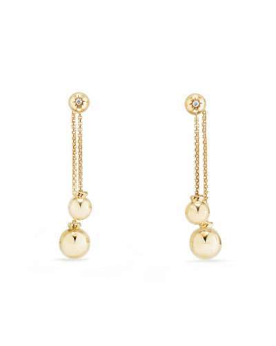 David Yurman Solari 18K Chain Drop Earrings with Diamonds