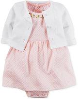 Carter's Baby Girls' 2-Pc. Cardigan & Embroidered Geo-Print Dress Set