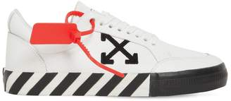 Off-White Off White LOW VULCANIZED LEATHER SNEAKERS