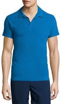Orlebar Brown Felix Johnny-Collar Short-Sleeve Polo Shirt, Butterfly Blue