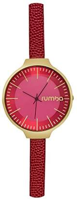 RumbaTime Women's Orchard Stainless Steel Japanese-Quartz Watch with Leather Calfskin Strap
