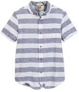 Tailor Vintage Short Sleeve Linen Cotton Rugby Stripe Top (Little Boys & Big Boys)