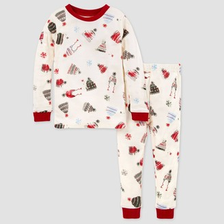 Burt's Bees Baby Toddler Organic Cotton Winter Hat Pajama Set -