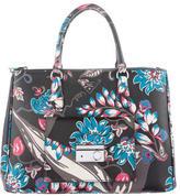 Prada Saffiano Leather Pocket Tote Bag