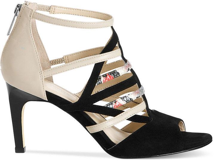 Calvin Klein Women's Shoes, Gena Mid-Heel Sandals
