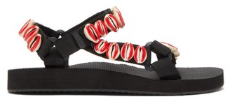 Arizona Love X Timeless Pearly Trekky Shell-embellished Sandals - Red
