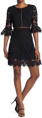 Love by Design Lace Bell Sleeve Dress