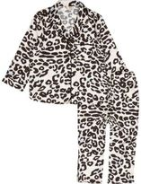 River Island Mini girls pink leopard print pajama set