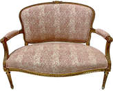 One Kings Lane Vintage 19th-C. Giltwood French Settee - Von Meyer Ltd. - pink/ivory/gold