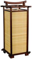 "Oriental Furniture 18"" Nara Lamp, Walnut"