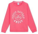 Petit Bateau Girls silkscreen print sweatshirt