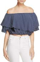 MLM Label Maison Polka Dot Off-the-Shoulder Top