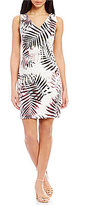 Antonio Melani Charome Printed Sateen Shift Dress