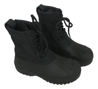 Celine Outdoor Ankle Boots Black Rubber Ankle boots