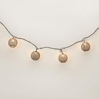 Indigo Black Mesh String Patio Lights Set Of 10