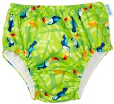 I Play Snap Reusable Absorbent Swim Diaper (Baby) - Lime Toucan - 9-12 Months