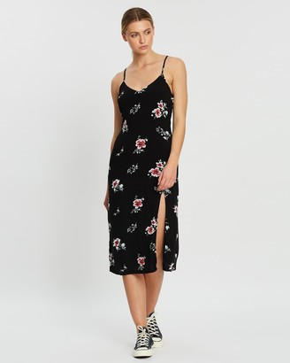 Abercrombie & Fitch Midi Slip Floral Dress