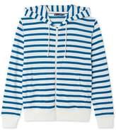 Petit Bateau Womens striped zippered sweatshirt