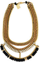 Lizzie Fortunato Beaded Woven Leather Necklace