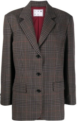 In The Mood For Love Time houndstooth check blazer