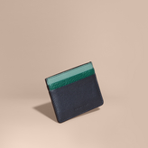 Burberry Colour Block Leather Card Case