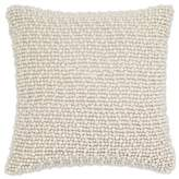 Aura Pearl Square Throw Pillow in White