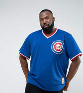 Majestic Plus Mlb Chicago Cubs Overhead Baseball Jersey In Blue