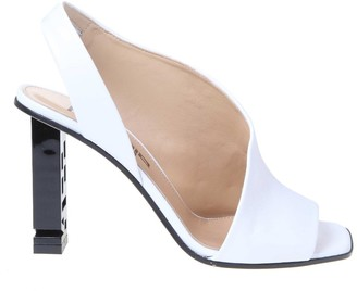 Sergio Rossi White Nappa Leather Sandal
