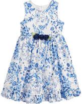 Marmellata Floral-Print Clip-Dot Dress, Toddler Girls
