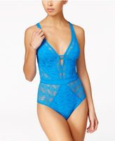 Becca Color Play Illusion-Lace One-Piece Swimsuit
