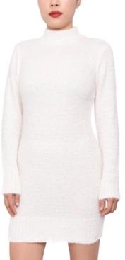Planet Gold Juniors' Fuzzy Bodycon Sweater Dress