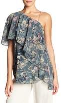Haute Hippie One Shoulder Floral Blouse