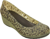 Crocs Women's Carlisa Animal Graphic Wedge