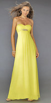 Yellow Strapless Evening Dresses by La Femme