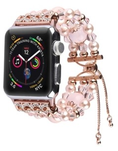 Posh Tech Unisex Bracelet Pink Pearl Band for Apple Watch, 42mm