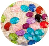 CoulorButtons 200pcs 16*12mm Acrylic Crystal Beads Loose Scale Films Bead For Jewelry Making Craft