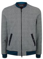 Ted Baker Qwean Houndstooth Checked Bomber Jacket