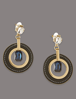 Autograph Circle Glamour Drop Earrings