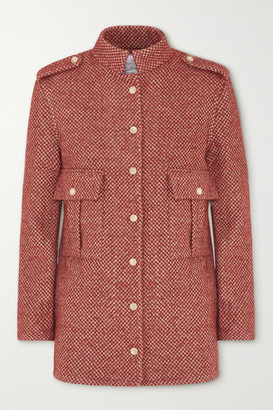 Giuliva Heritage Collection The Officer Checked Wool-blend Jacket - Brick