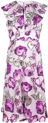 Lela Rose Floral Print Dress